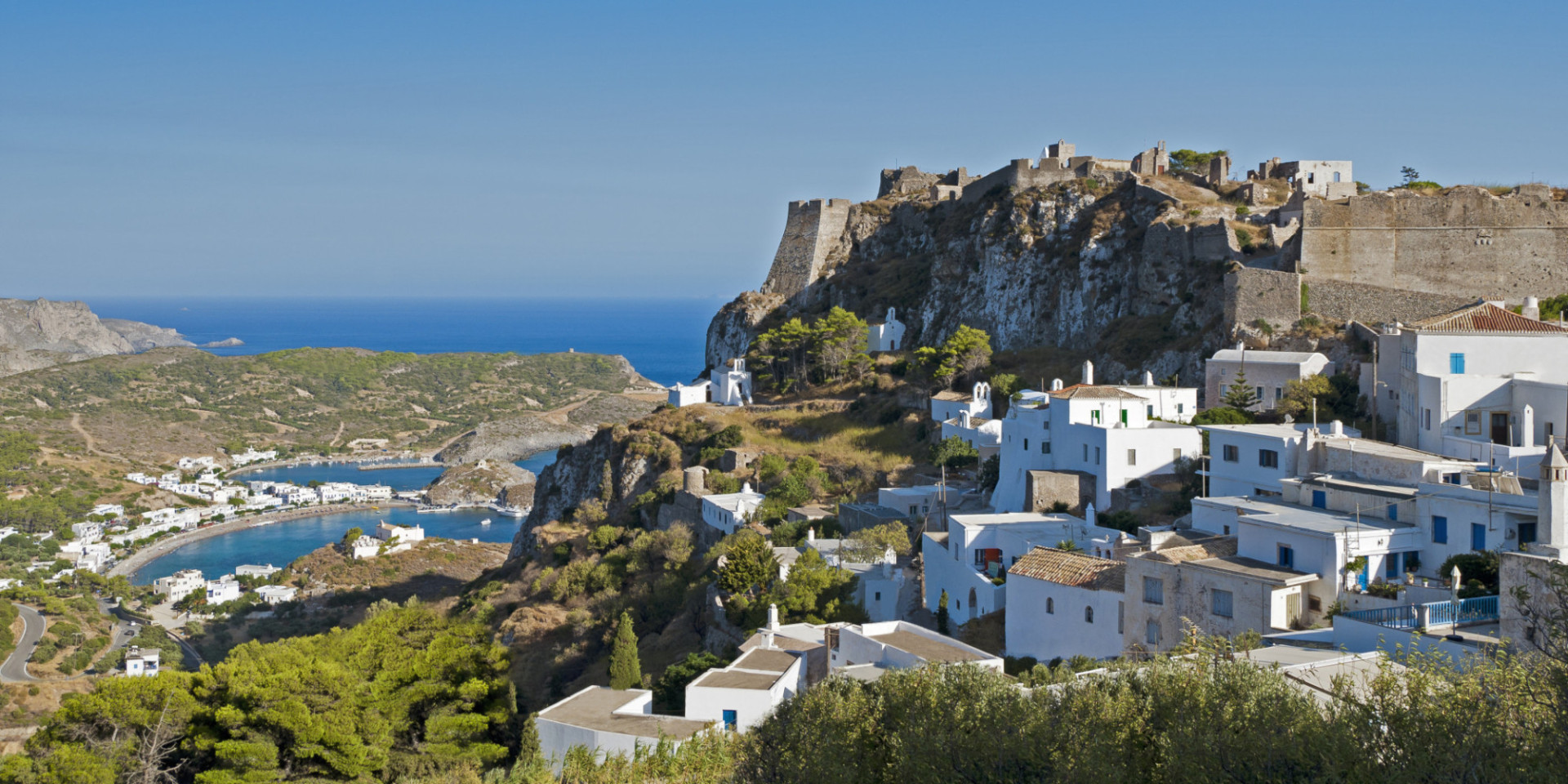 Castle in island of Kythera-Greece